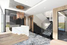 Pensjonat w Sopocie - hall i korytarz / Przedstawiamy wizualizacje do wnętrz projektowanego przez nas pensjonatu w Sopocie
