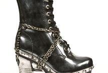 goth foot wear