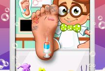 Nerdy Ben Foot Doctor / Our sweet geeky little hero Ben needs your special care and Doctor skills, cure his poorly feet at the Foot Spa Salon