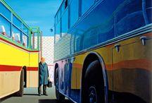 Jeffrey Smart buildings painting