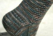 Knitted socks, kötött zoknik