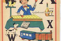 Antique Vintage French Children's Alphabet