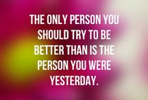 Inspiration and Motivation / Images with inspiring and motivational quotes and themes.