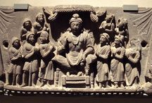 """Gandhara Buddha Maitreya / The entire principle of the Bodhisattva Maitreya is that he resides in Tushita paradise perfecting himself through meditation until such time a s he is ready to descent to this world (Jambhu dvipa) in the context of the """"Time of Ketumati."""" The future history accounts tell that Maitreya will be born into a Brahmin family perform three teaching assemblies and will predict the future enlightenment all who have faith in him at the present time or who help him prepare for the time of Ketumati"""