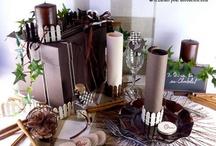 Thème nature au chocolat / Fondez pour une décoration de table craquante ! Abusez du chocolat en mariant blanc, noisette et chocolat noir !