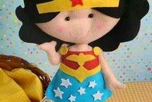 Feltro Super heróis e vilões