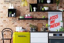 Kitchens / Love a quirky kitchen old style mixed with eclectic,industrial, retro, mismatched .... My style