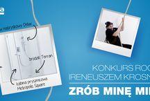 """ZRÓB MINĘ MIMA - konkurs ROCA / Zrób """"selfie"""" przedstawiające minę jakiej nie powstydziłby się nasz mim – Ireneusz Krosny. Wrzuć zdjęcie do naszej aplikacji konkursowej, napisz który z produktów ROCA z naszego klipu podoba Ci się najbardziej, oraz zbierz minJury wybierze 12 najlepszych min, które nagrodzimy gift packami od ROCA, zawierającymi m.in. pendrajwy, kosmetyki, kubki oraz podgrzewacze do kawy USB. imum 5 głosów na swoje zdjęcie. / by ROCA POLSKA"""