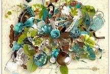 Shimmering days / http://shop.scrapbookgraphics.com/Shimmering-days.html