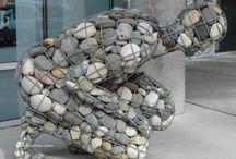 Human Pebble Stone box