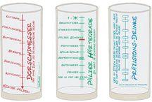 Pfälzer Schoppengläser / Die 0,5 Liter Schoppengläser sind mit lustigen Sprüchen auf Pfälzisch bedruckt.