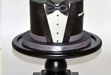 Tuxedo/smoking cake