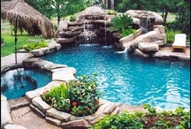 swimming pool ideas / by LUCILLE CANNON