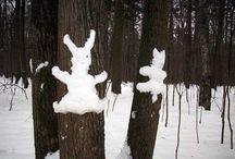 Zimní školka v přírodě