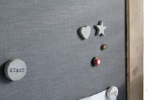 Magneet bord/ krijt bord