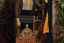 Designer Embroidery Salwar Suits / Salwar Kameez - Cotton & Embroidery, Indian Designer Top Selling Bridal Exclusive Party Wear Embroidery Salwar Kameez