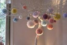 Who doesn't love a Pom pom? / Crafts made with Pom poms