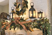 Country Christmas Mantels