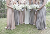 Mismatched Bridesmaids / Beautiful mismatched bridesmaid dresses.