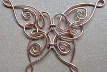 Wire  art  butterfly   蝶