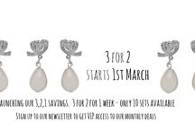 Bridesmaid Jewellery and Hair Accessories Discounts / Sign up to our newsletter to get VIP access to our 3 for 2 that starts on 1st March 2014. It only lasts for 1 week every month, we pick a different product each month and we only make 10 every month available. So sign up to get a whole days access to the sale before anyone else. www.lhgdesigns.co.uk