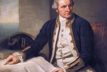 Captain James Cook  / Captain James Cook (1728-1779) explorer, navigator, cartographer made three voyages to the Pacific Ocean, the first recorded European contact with the eastern coastline of Australia and the Hawaiian Islands, and the first recorded circumnavigation of New Zealand.