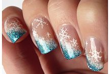Nails- Winter time / Santa Claus, Christmas, New Year, Winter
