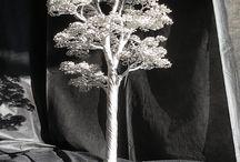 Decoration art, / Wire tree, aluminum