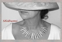 necklace by karina / Shibumi handmade elegant and extravagant necklace.  Made with love and care. ,  Designer Necklace, allergy free made from silver.   you find our shop on www.facebook.com/shibumifashion or on shibumi2014.dawanda.de  Keep on day-dreaming with us  with love karina