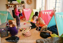 Glamping Slumber Party Ideas / Everything you need to have the perfect Glam Camping Party