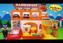 アンパンマンおもちゃアニメ❤おしゃべりハンバーガー屋さんでバイキンマン満足! Anpanman toys
