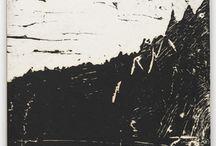 Woodblock print / B&W