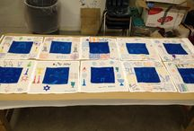 Omanut 2013 at Ramah Darom / Here are some great Jewish omanut/art project ideas you can use with your kiddos at camp or school!