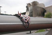 Perlas con paisajes / Collar de perlas cultivadas de colores