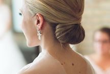 chic smooth updo's