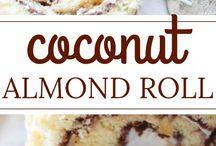 Coconut almond roll