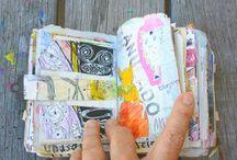 trash journaling and art