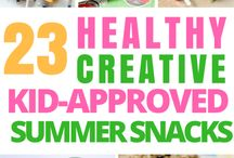 Healthy Snacks for the Family* / Healthy Snack ideas for moms, kids, and the whole family. Road trip snacks, on-the-go snacks, healthy summer snacks.