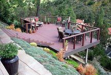 hillside deck terrace