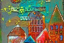 Houses in art