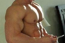 Shirtless and well built guys