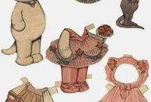 бумажные куклы-котики и кошечки