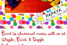 Wiggle, Paint and Giggle by Amaya Papaya / Art class for toddlers