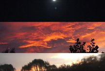 my work Same sky different moments #cornwall #photography #autumn #sketch #moon #sunset #sunrise