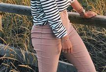 Look pantalon rosa