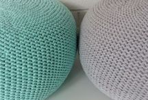 knit pouf knitted pufa