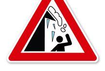 Winterdienstschilder / Winterdienstschilder – Gefahrenhinweise zu Rutschgefahr, zum Schneeräumdienst und Warnschilder vor Dachlawinen und Eiszapfen.