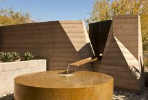 Home Outdoors / Inspired outdoor living spaces, especially fireplaces and pits, small pools, and and Japanese-style baths.