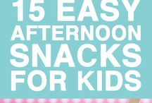 Afternoon snacks for kids