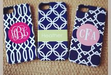 Monogrammed iPhone Cases / Our custom monogram iPhone 4 and 5 cases are fun to design and are a great accessory to show off your modern style. Design your monogrammed iPhone case today in your favorite pattern and colors and personalize with a name or monogram for the ultimate techie fashion accessory!